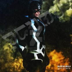 BlackBolt, King of the Inhumans (watercolor) by giumabei
