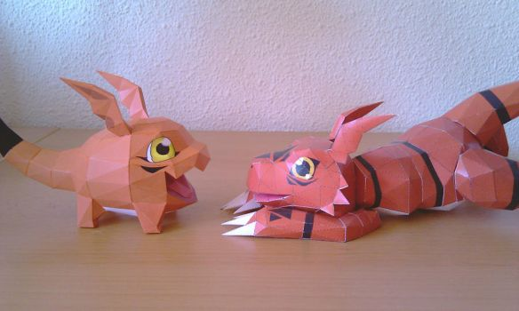 Gigimon and Guilmon by Destro2k