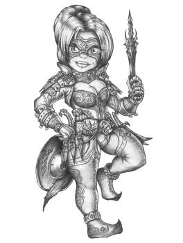 [COMMISSION]Daisy Hilltopple-Halfling Shadowdancer by s0ulafein