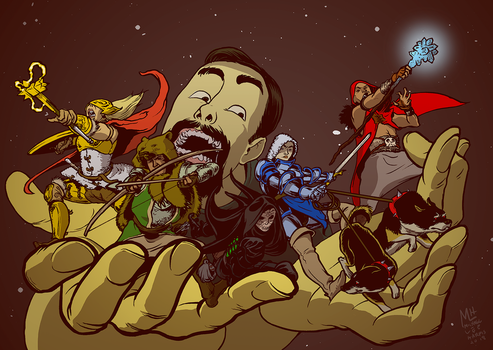 Dungeons and Dragons Commission by michaelharris
