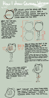 How to draw Gumball Watterson by Arachnide-pool