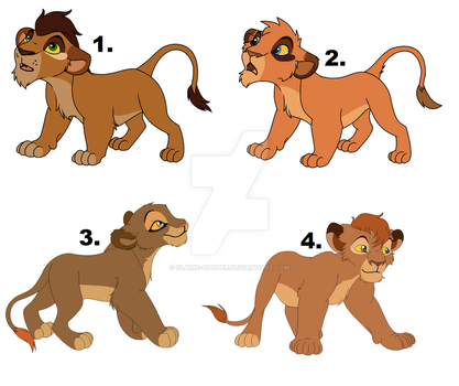 Lil-Cheetah Cub Designs. by Claire-Cooper