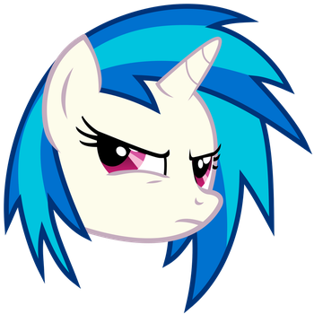 Vinyl Scratch - Suspicious (updated) by namelesshero2222