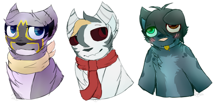 Commission/Payments Headshots by CattyAngel