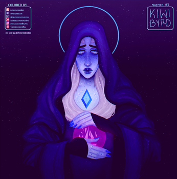 Blue Diamond | Collab w/ Kiwi Byrd [Speedpaint] by H0nk-png
