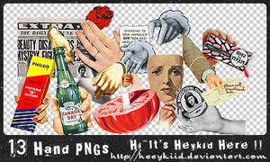 13 Hand PNGs by heeykiid