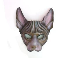 Sphynx Cat Leather Mask by Teonova by teonova