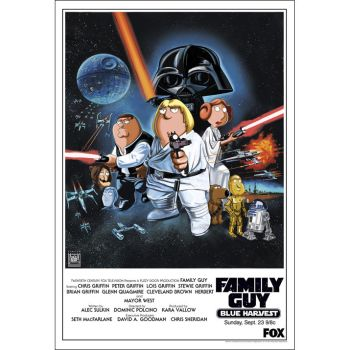 Star Wars Family Guy 'Blue Harvest' Lithograph by TheDaggersTip