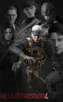 Metal Gear Solid 4 Poster by Squint911