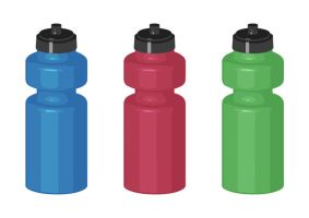 Sport Bottles Free Vector by superawesomevectors