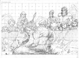 Halfling Rumspringa Pencils by JeffDee