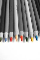 Splash of colour - Pencils by Laura-in-china