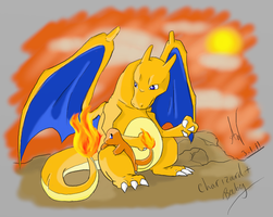 Charizard and Baby Charmander