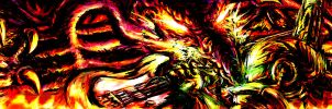 Metroid Metal:Through the fire.. by LightningArts