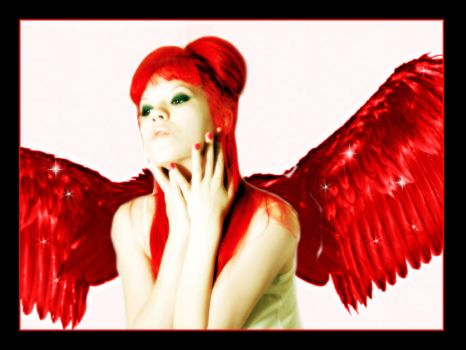 A red angel by Reyad