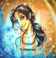 Chell Color Splash Finis by CountessHalcyon