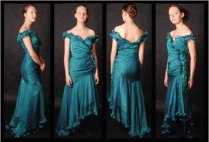 Teal evening dress 360 by MaybeAnna