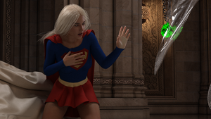 Supergirl trapped by Selina - 04 by rustedpeaces