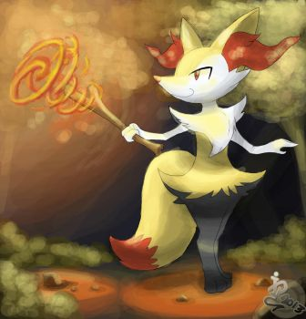 Braixen by InfinitePieces