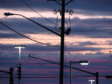 Power Pole Sunset by starjeans