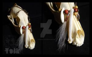 Coyote Charm Necklace by Shamans-Yoik