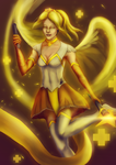 Star guardian Mercy - Overwatch fanart by eschata