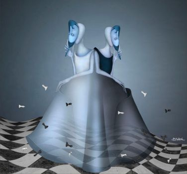 Black-White Queen (about Alice) by Bobrova