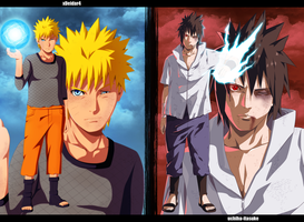 Naruto-vs-Sasuke [Collab] by Adriano-Arts