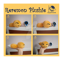 Reremon plush (real size) by Ishtar-Creations