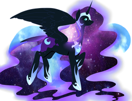Nightmare Moon by pinkiecitrine