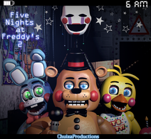 The Toys - [FNaF 2 Blender Poster] by ChuizaProductions