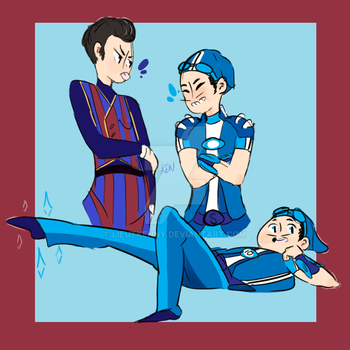 Lazy Town Doodle by lieutkenny