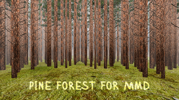 [MMD DL]Pine Forest by ketokeas