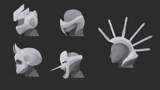 Mask Concepts for a Game by behxmot