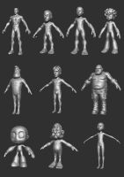 Male Body Bases P2 by HecM