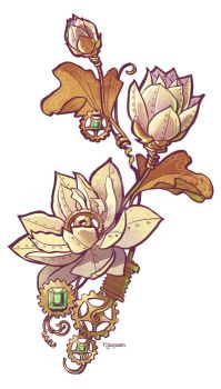 mechanical lotus by BrianKesinger