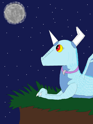 request: talking to the moon by spyrokim123456