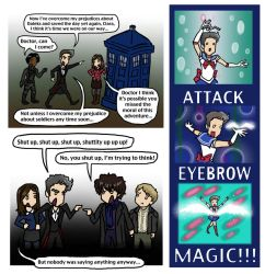 DW: Pride and Prejudice and Attack Eyebrows by blackbirdrose