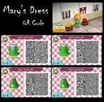 ACNL: Mary's Dress (Ib) QR Code by rexyplexy