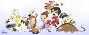 Avatar Pet Parade by akaiichigo