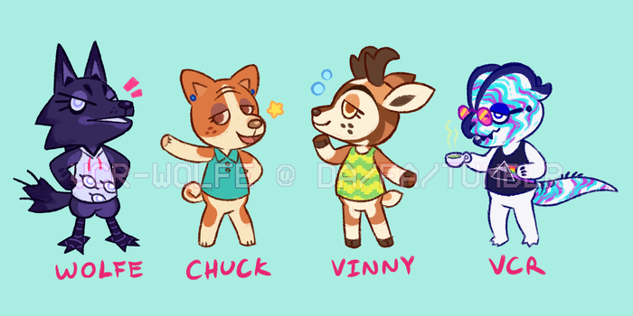 Several Animal Crossings by VCR-WOLFE