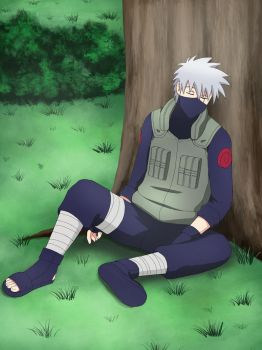 Kakashi Sleeping by Pungpp