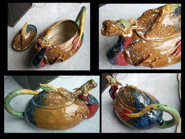Dragon Teapot Multi-View by OllyChimera