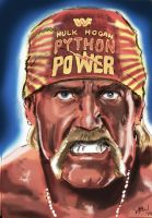 Hulk Hogan by Simon-Williams-Art