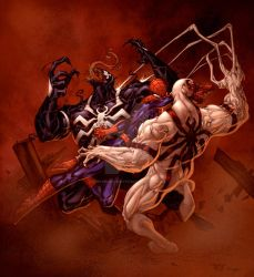Spidey + Venoms by SpiderGuile by StephenSchaffer
