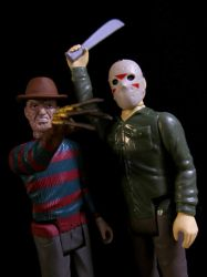 Funko Re~Action Freddy and Jason by Police-Box-Traveler