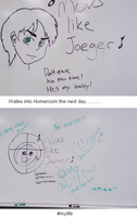 Eren on my Homeroom Whiteboard Meme by xMaikoWolfx