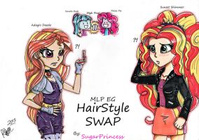 Hairstyle Swap-Adagio and Sunset (MLP EG) by SugarPrincess37