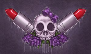 Skulls and lipstick by sacking-jimmy