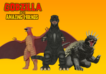 Godzilla and His Amazing Friends Poster by AsylusGoji91